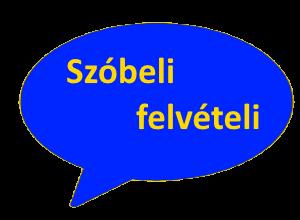 Felvételi szóbeli behívó – 2021